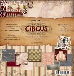 "Набор двусторонней бумаги ""Circus"" 250гр, 30,5х30,5см НОВИНКА"