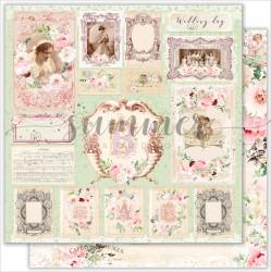 "Лист двусторонней бумаги ""Wedding cards"", 190гр, 30,5х30,5"
