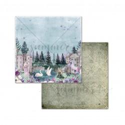 """Лист двусторонней бумаги """"Silence in the forest"""" 250гр, 30,5х30,5"""