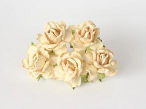 Розы кудрявые 4 см, Молочные № 2