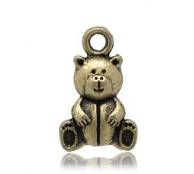 Подвеска Медвежонок бронзовый