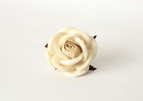 Maxi розы 5 см - молочные
