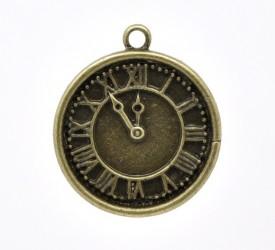 Часы римские маленькие бронзовые, 1 шт
