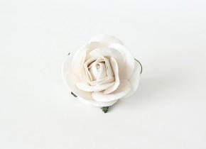 Maxi розы 5 см белые, 1 шт
