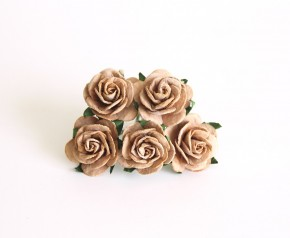 Midi розы Кофе с молоком 2,5 см, 1 шт