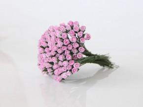 Микро бутоны Розовы+белый 1 шт