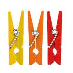 """Декоративные прищепки """"Полдень"""" (Желтый , оранжевый, красный), 3.5 см, 12 шт."""
