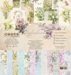 """Набор бумаги """"Первоцветы"""", 30х30"""