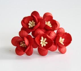 Цветок вишни Красный, 1 шт