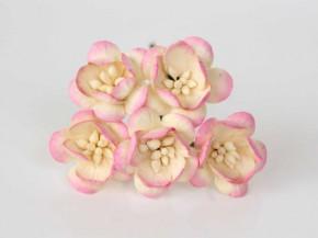 Цветок вишни Желтый + розовый, 1 шт