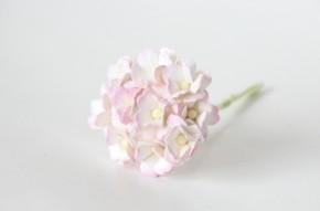 Цветок вишни Светло-розовый + белый, средний