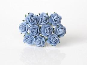 Розы 1 см голубые, 1 шт.