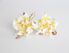 Гардения 4-5 см Белый + желтый, 1 шт.