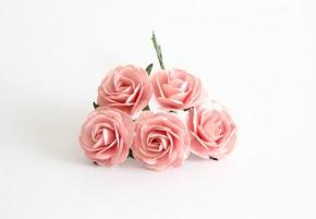 Макси-розы розовоперсиковые 4 см, 1 шт