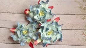 Гардении  4-5 см голубые двухтоновые.
