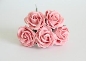 Макси-розы с закругленными лепестками розовоперсиковые 1 шт.