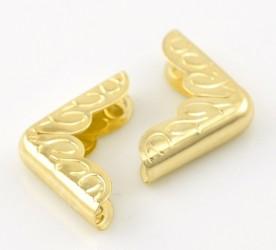 Уголки для альбомов Желтое золото (16х16 мм), 4 шт.